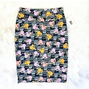 NWT LULAROE Cassie Mickey Mouse Pencil Skirt